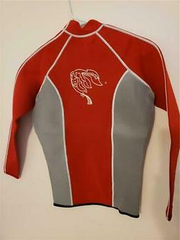 NEOPRENE WET SUIT TOP ​JACKET Raw Skin Long Sleeve NEW Med