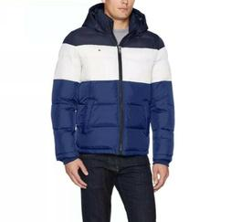 New Tommy Hilfiger Men's Classic Hooded Puffer Jacket Blue W