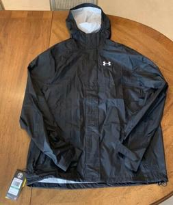 New Under Armour Mens Ace Rain Jacket Full Zip 1261123 Black