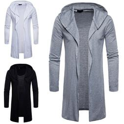 new mens hooded fall trench coat jacket