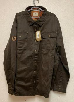new mens journeyman rugged shirt jacket tobacco