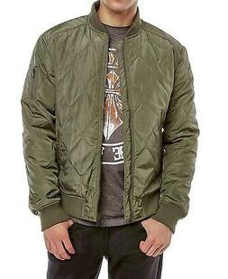 Sovereign Code NEW Olive Green Men's Bertie Diamond Quilted