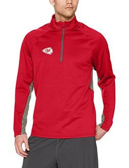 NFL Kansas City Chiefs Men's OTS Poly Fleece 1/4-Zip Pullove
