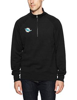 NFL Miami Dolphins Men's OTS Fleece 1/4-Zip Pullover, Jet Bl