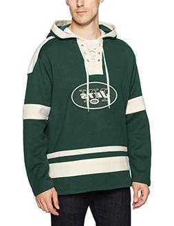 NFL New York Jets Men's OTS Grant Lace Up Pullover Hoodie, D