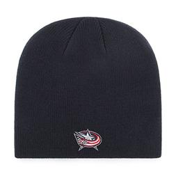 OTS NHL Columbus Blue Jackets Beanie Knit Cap, Navy, One Siz