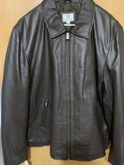 Nuvano Mens Brown Lambskin Leather Jacket Coat Very Soft Cla