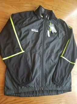 NWT Nike Golf Men's Large Seahawks Wind Full Zip Jacket NFL