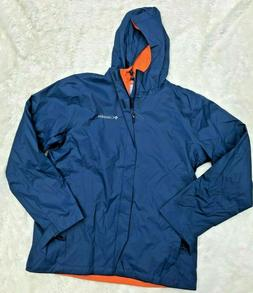 NWT Men's Columbia Rain Jacket Carbon Blue Medium Hooded Wat