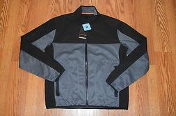 NWT Mens HAWKE & Co Graphite Gray Full Zip Light Weight Long