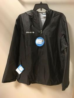 NWT Mens COLUMBIA Weather Drain Black Windbreaker Jacket Siz