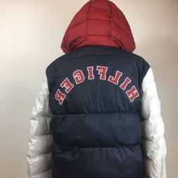 NWT Tommy Hilfiger Puffer Jacket Color Block Spell Out Mens