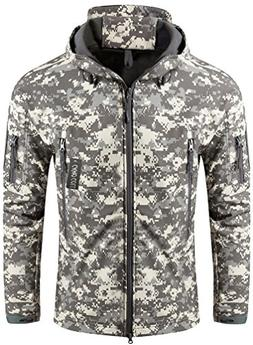 Camo Coll Men's Outerwear Camouflage Hoodie Military Jacket