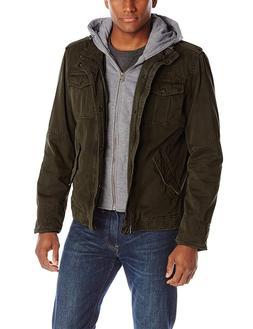 Outerwear Win Men's Big and Tall Washed Cotton Four-Pocket H