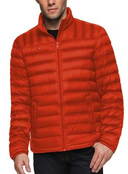 Tommy Hilfiger Men's Packable Down Jacket , Orange, X-Small