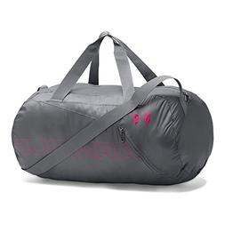 Under Armour Packable Duffle Bag, Graphite/Tropic Pink, One