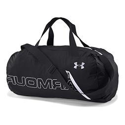 Under Armour Packable Duffle Bag, Black/White, One Size