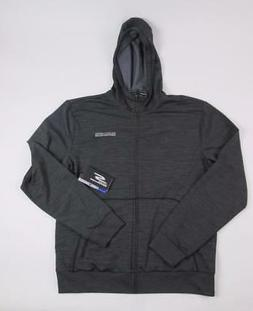SKECHERS PERFORMANCE MENS GRAY WORKOUT ZIP-UP HOODIE SWEATER