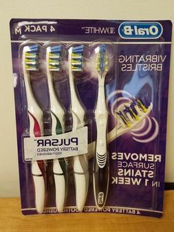 Oral B Pulsar Battery Powered Toothbrushes, Medium Hardness