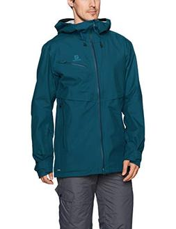 Salomon Men's Qst Guard 3 LAYER JACKET , Reflecting Pond, X-