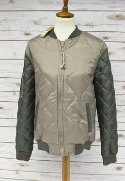 Lucky Brand Quilted Colorblock Bomber Jacket Men's Size Medi