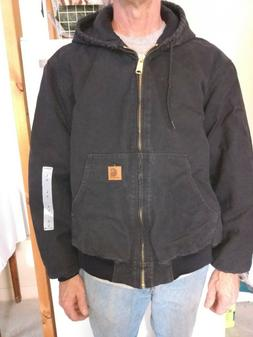 Carhartt Quilted Flannel Lined Duck Active Jacket -- Men's L