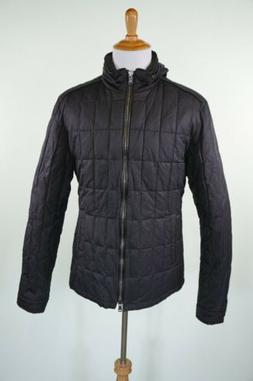 John Varvatos Quilted Jacket 2XL Black Mens Cotton Nylon Was