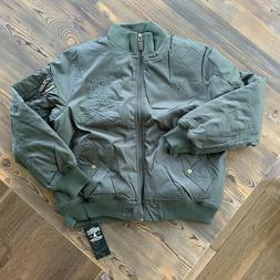 Rare Vintage Dissizit Mens 'DX 1.5 Flight' Bomber Jacket Oli