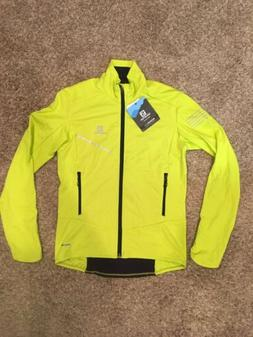 Salomon RS Softshell Jacket Mens Small Sulphur Spring NWT