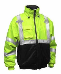 Tingley Rubber J26112 Bomber II Jacket, Large, Lime Green