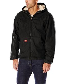 sanded duck sherpa lined hooded