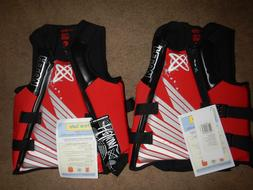 Set of 2 Life Jackets Vest PFD Neoprene Helium Mens AMP Wate