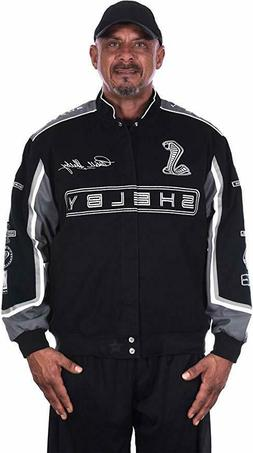 Shelby Cobra Jacket Mens Black Twill Jacket JH Design CLG7 F