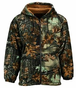 TrailCrest Sherpa Lined Green Camo Fleece Camouflage Men's H