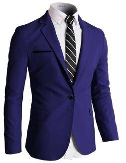 3a3a4c6f0aac7 H2H Mens Slim Fit Single One Button Blazer Jackets with Pock