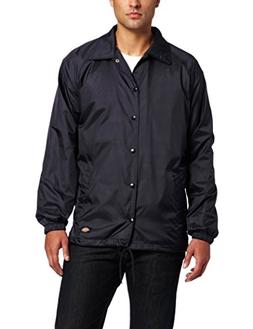 Dickies Men's Snap Front Nylon Jacket, Dark Navy, X-Large