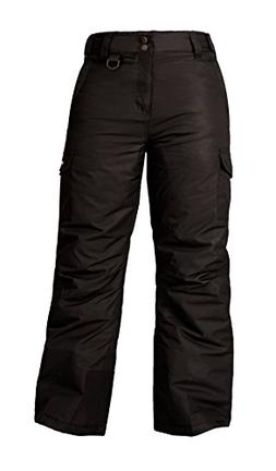 Arctix 1540 Youth Cargo Ski Pants, X-Large, Black