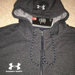 SOFT Under Armour Men's Triblend Zip-up Hoodie GRAY Full Zip