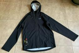 Under Armour Storm Rain Jacket Zip Up w/ Hood Black Men's M