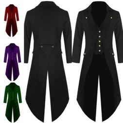 Tailcoat Mens Vintage Victorian Gothic Steampunk Swallow-tai