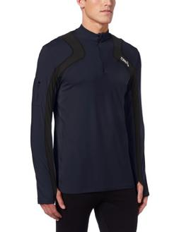 Asics Men's Team Tech Half Zip, X-Small, Navy/Black