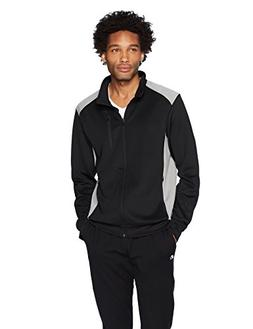 Starter Men's Track Jacket, Amazon Exclusive, Black, Small