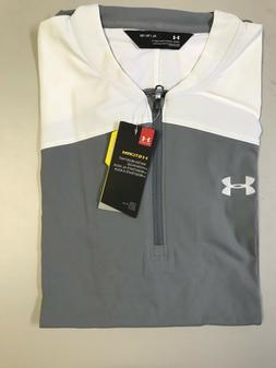UNDER ARMOUR TRIUMPH MEN'S CAGE JACKET COLOR GR/WH MULTIPLE