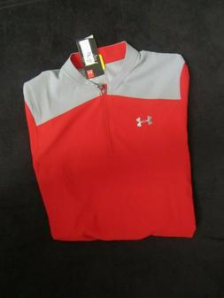 UNDER ARMOUR TRIUMPH MEN'S CASE JACKET RED & GRAY  $55 VALUE
