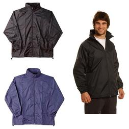UNISEX MENS WOMENS RAIN JACKET WITH HOOD COAT OVERCOAT SPRAY