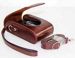 Universal PU Leather case with Shoulder Strap for Samsung WB