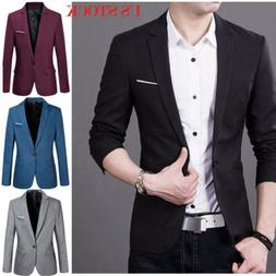 US Fashion Mens Formal Occasion Suit Business Work Coat Jack