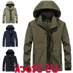 US Men Waterproof Hooded Outdoor Combat Tactical Coat Milita