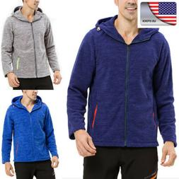 US Winter Mens Fleece Jackets Warm Outdoor Hiking Camping Co