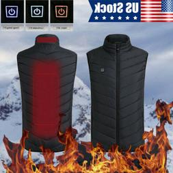USB Electric Heated Coat Jacket Heating Vest Winter Thermal
